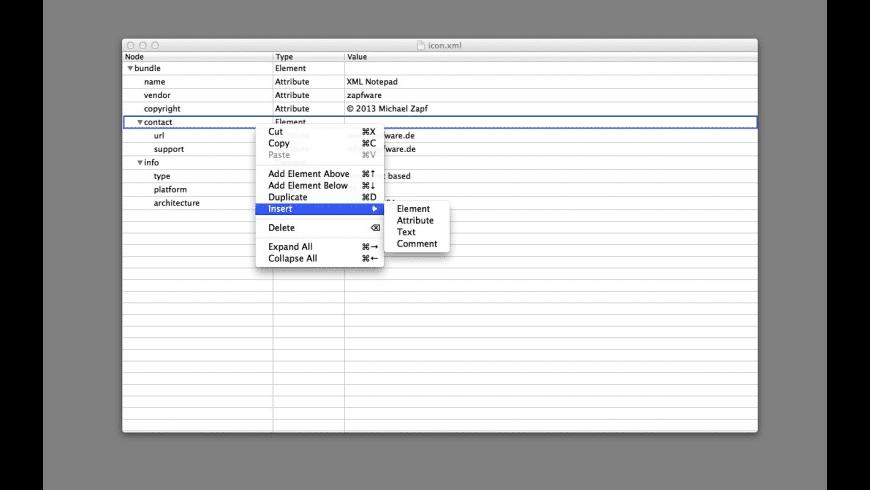 XML Notepad for Mac - review, screenshots