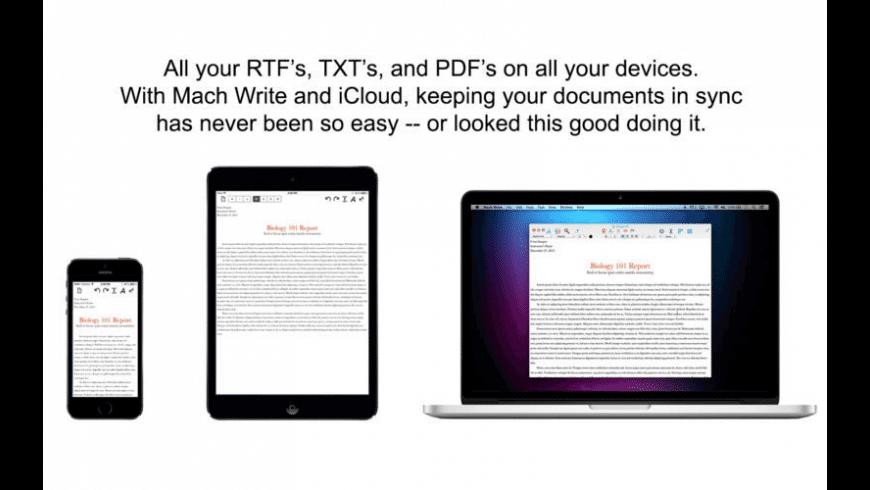 Mach Write for Mac - review, screenshots