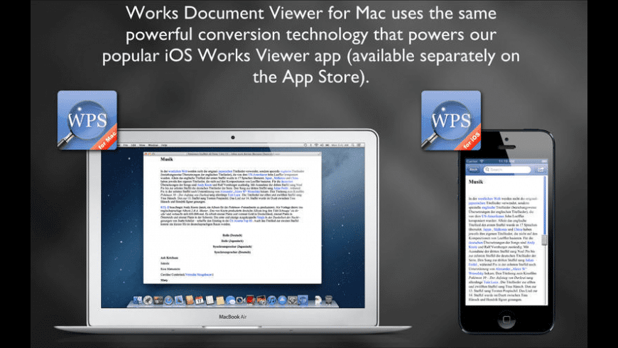 Works Document Viewer for Mac - review, screenshots