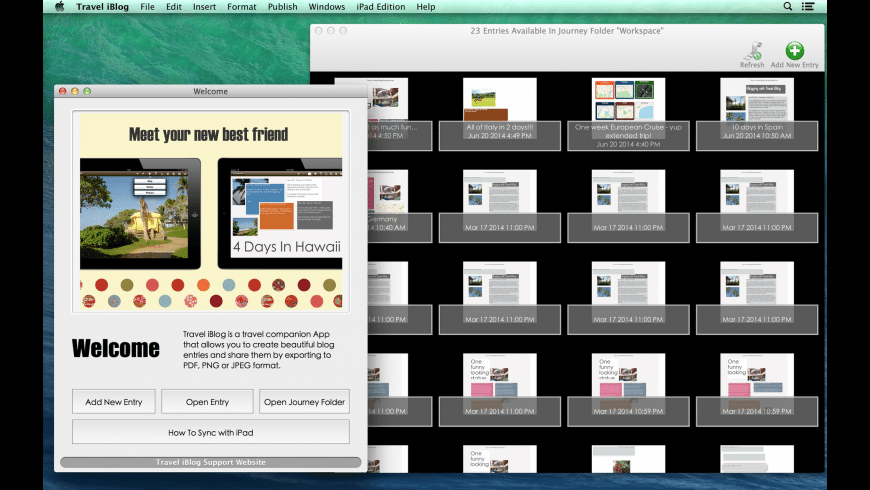 Travel iBlog for Mac - review, screenshots