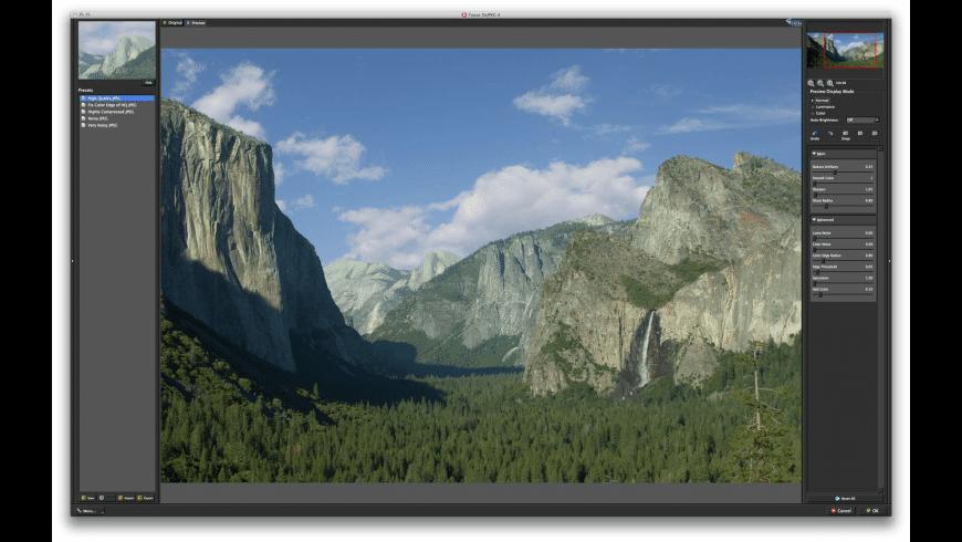 Topaz DeJPEG for Mac - review, screenshots