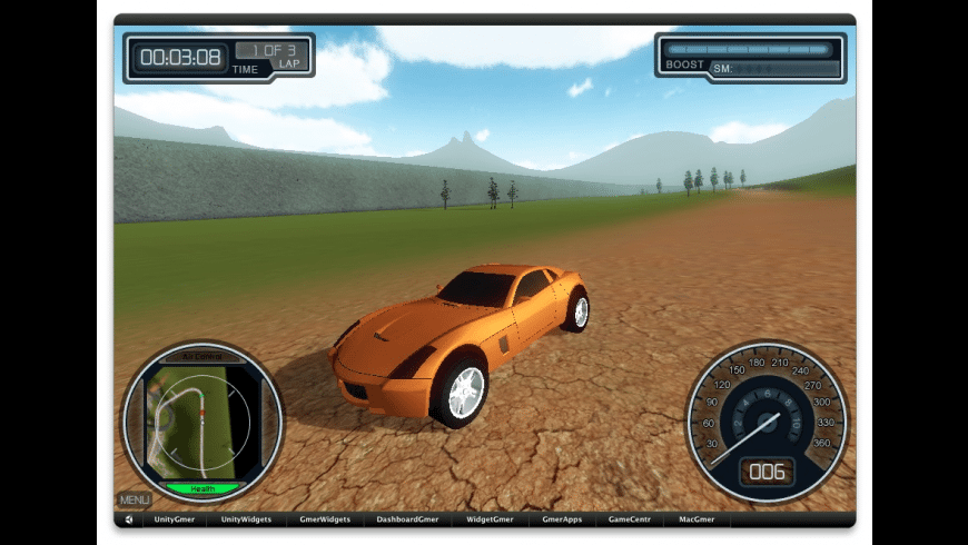 Overtorque Stunt Racing Widget for Mac - review, screenshots