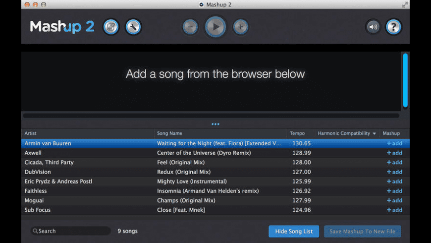 Mashup for Mac - review, screenshots