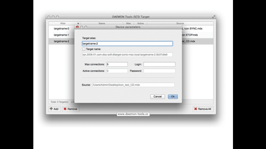 DAEMON Tools iSCSI Target for Mac - review, screenshots