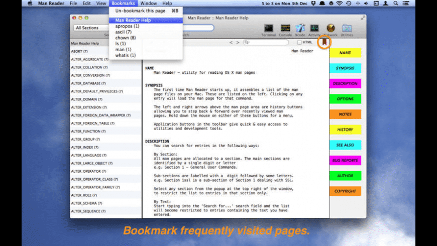 Man Reader for Mac - review, screenshots
