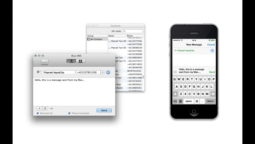 Blue SMS for Mac - review, screenshots