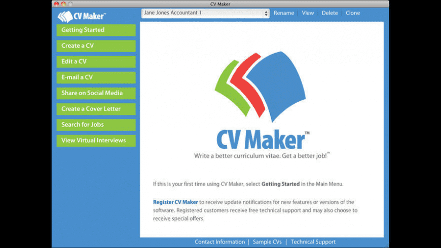 CV Maker for Mac - review, screenshots