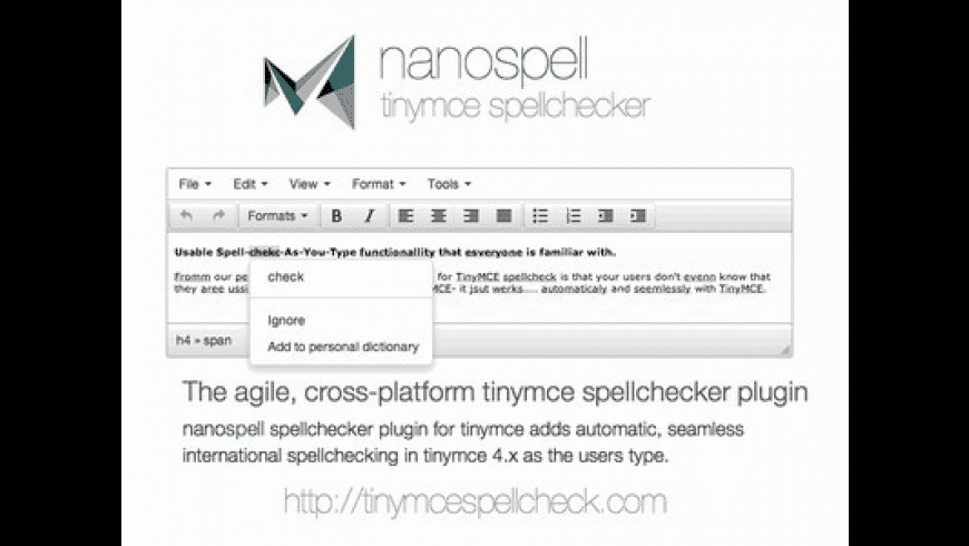 NanoSpell for Mac - review, screenshots
