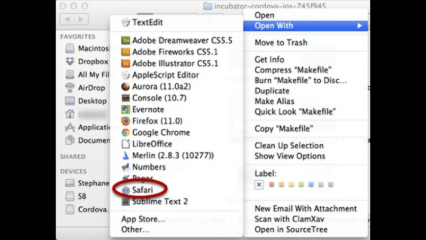 Clean Open With for Mac - review, screenshots
