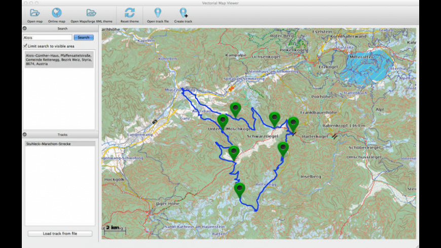Vectorial Map for Mac - review, screenshots