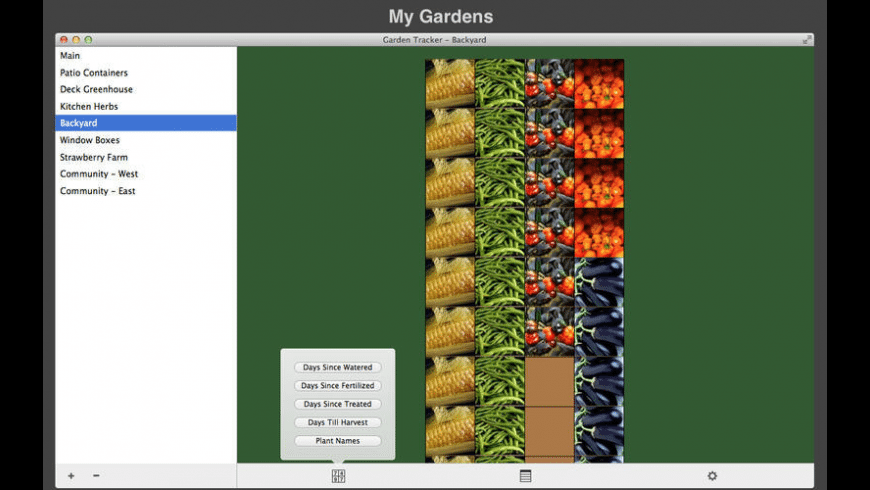 Garden Tracker for Mac - review, screenshots