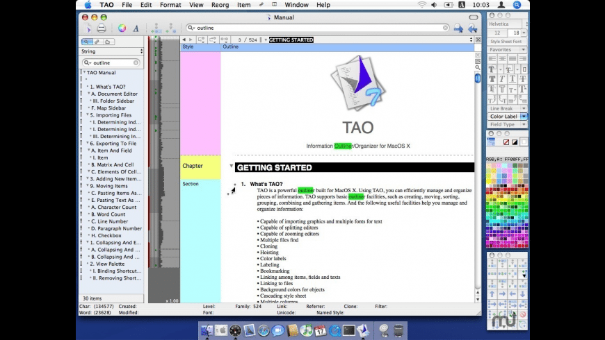TAO for Mac - review, screenshots
