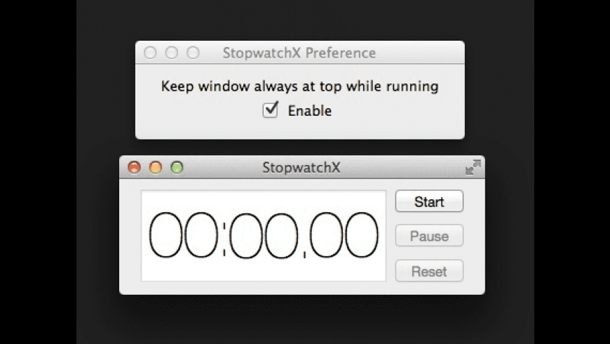 StopwatchX for Mac - review, screenshots