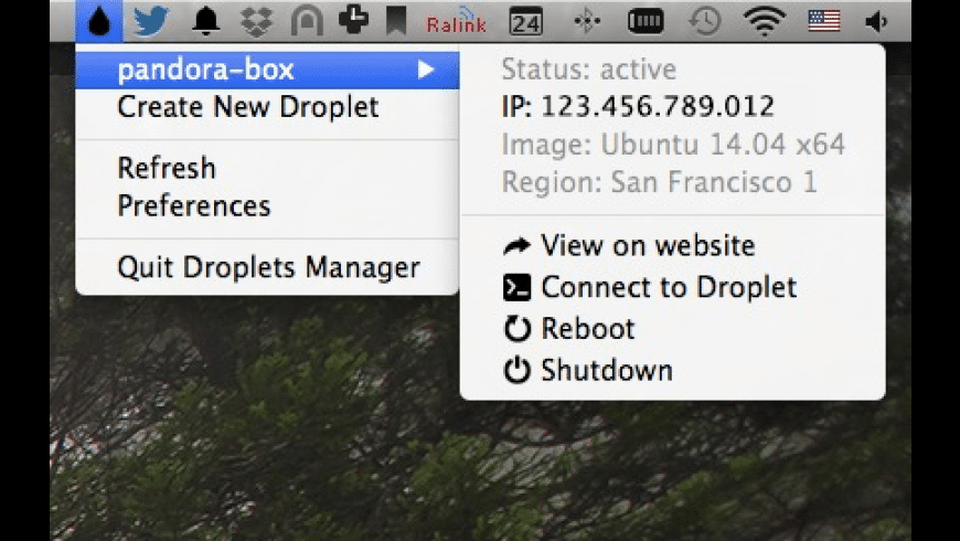 Droplets Manager for Mac - review, screenshots