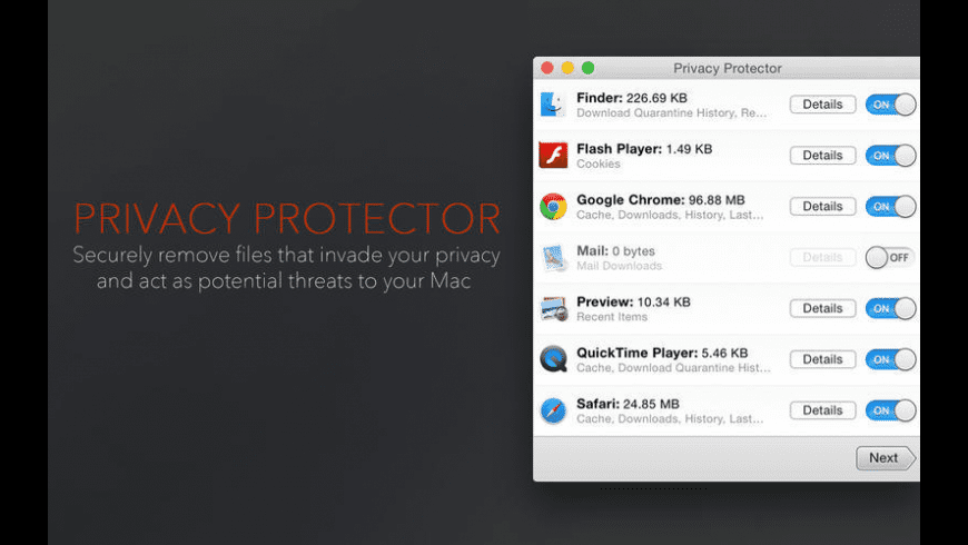 Privacy Protector for Mac - review, screenshots