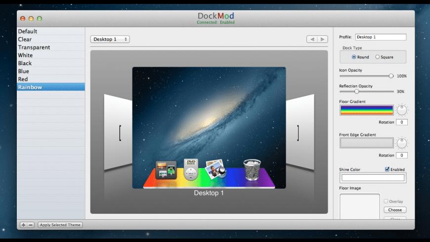 DockMod for Mac - review, screenshots