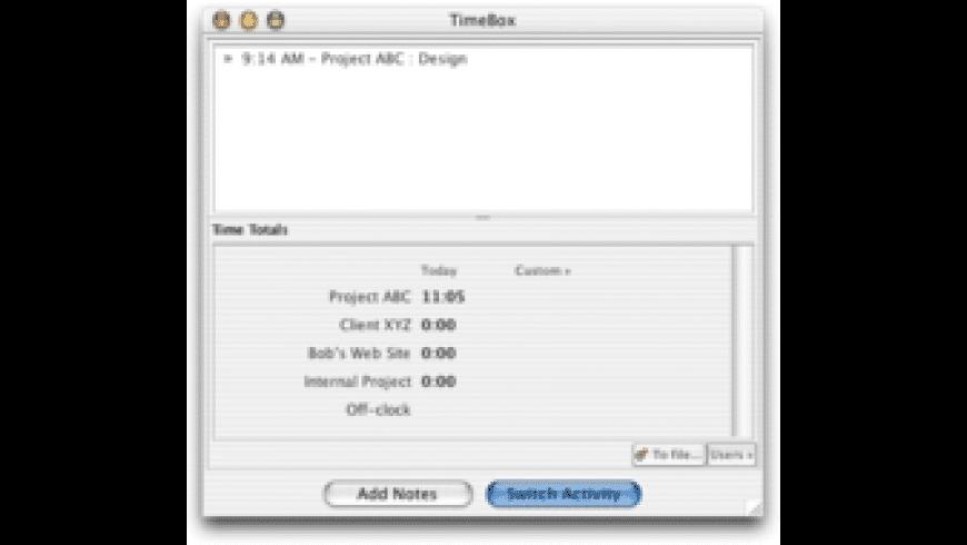 TimeBox for Mac - review, screenshots