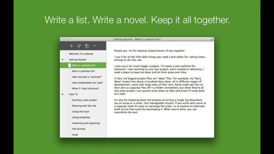 Leafnote for Mac - review, screenshots