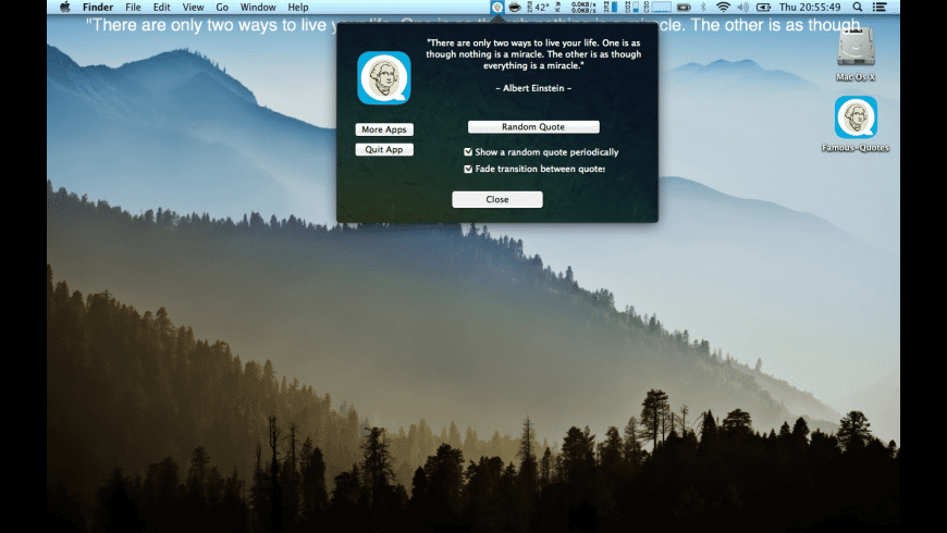 Famous Quotes for Mac - review, screenshots