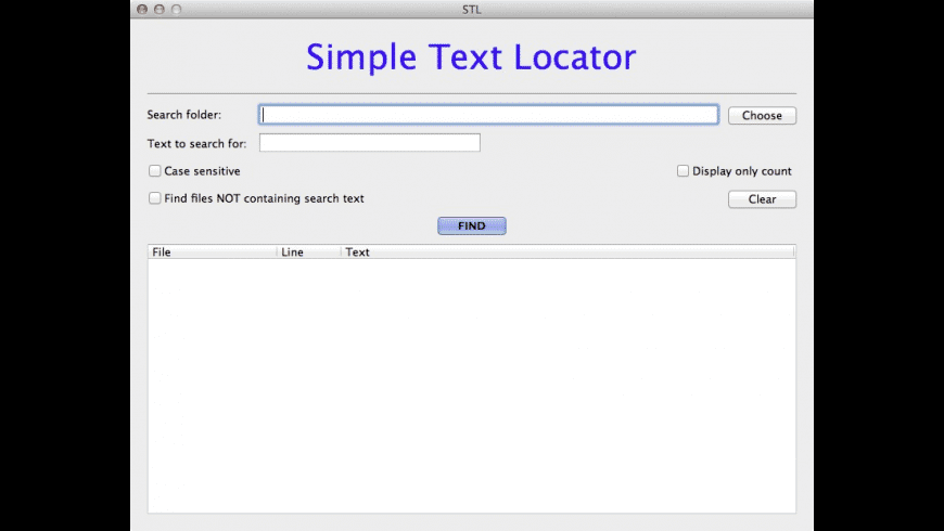 Simple Text Locator for Mac - review, screenshots
