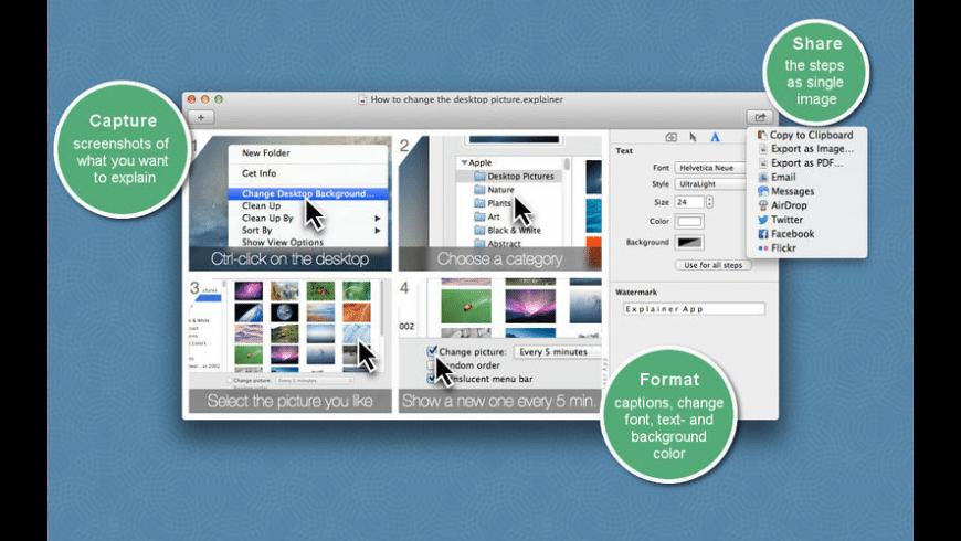 Explainer Screenshots for Mac - review, screenshots