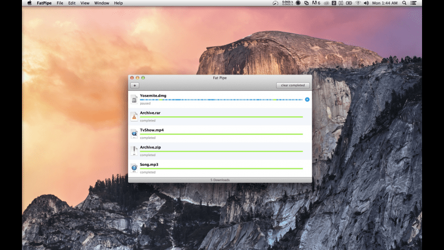 Fat Pipe Downloader for Mac - review, screenshots