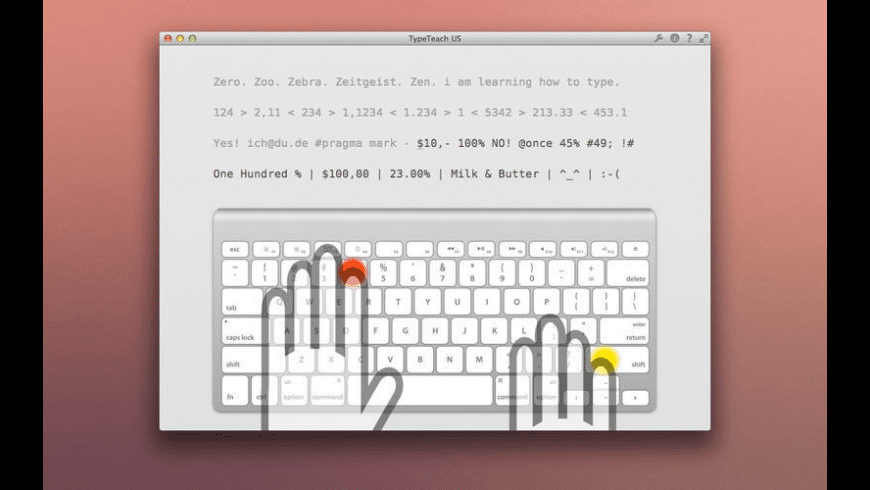 TypeTeach US for Mac - review, screenshots