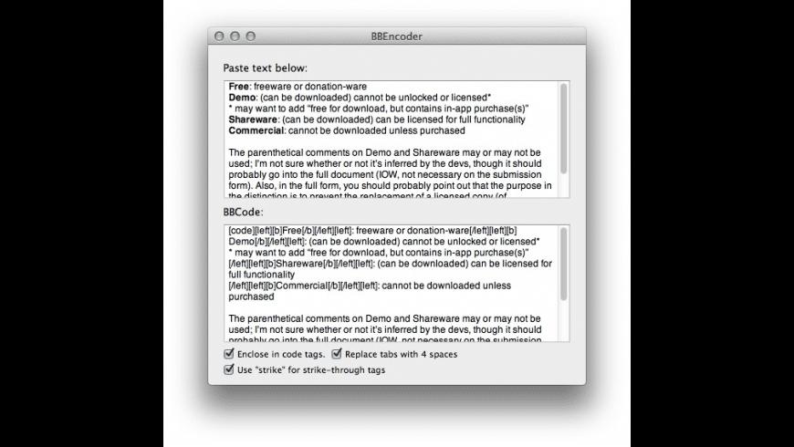 BBEncoder for Mac - review, screenshots