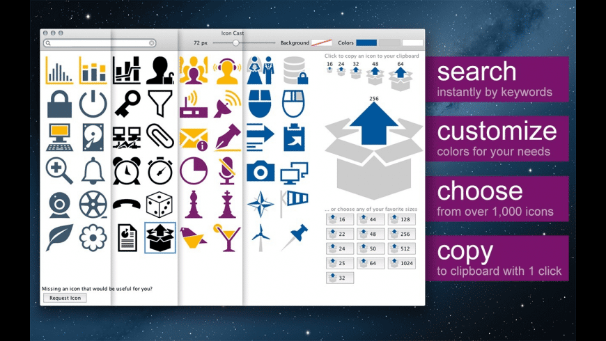 Icon Cast for Mac - review, screenshots