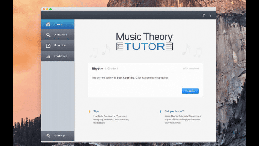 Music Theory Tutor for Mac - review, screenshots