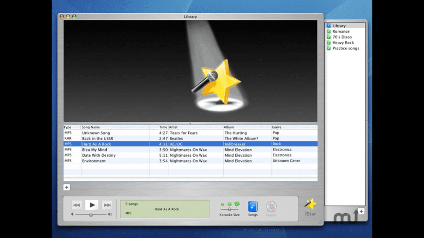 iStar Karaoke for Mac - review, screenshots