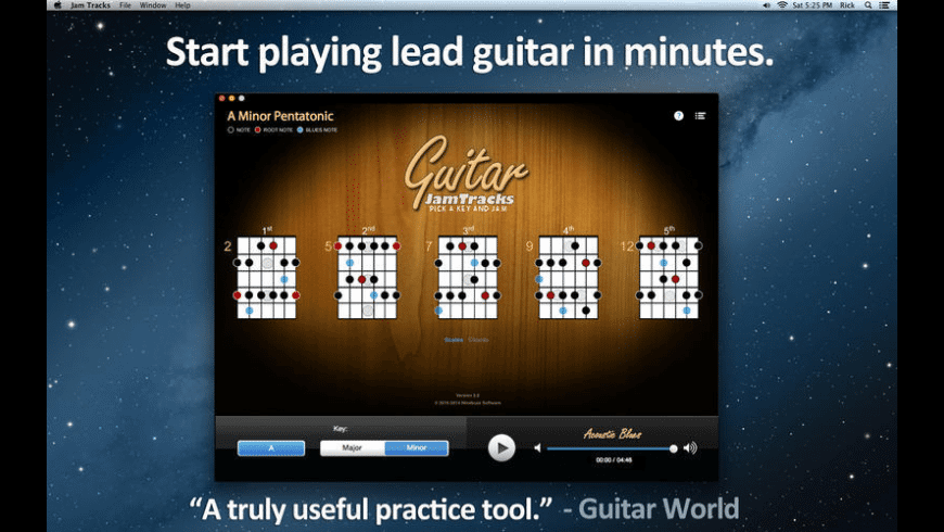 Guitar Jam Tracks for Mac - review, screenshots