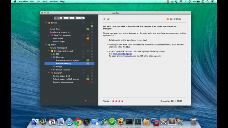 easy2do for Mac - review, screenshots
