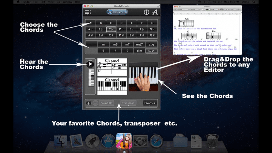 HandyChords for Mac - review, screenshots