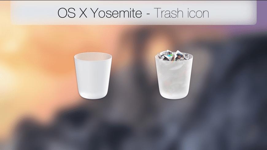 OS X Yosemite Trash Icon for Mac - review, screenshots
