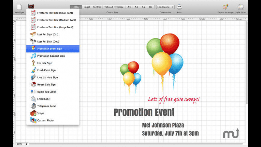 Flyer Designer for Mac - review, screenshots