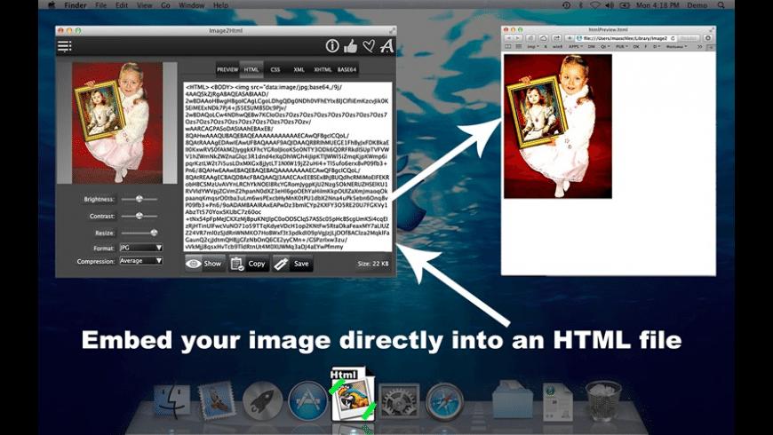 Image2Html for Mac - review, screenshots