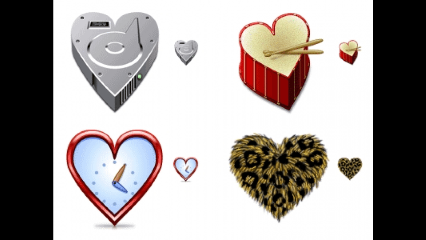 Hearts Icons for Mac - review, screenshots