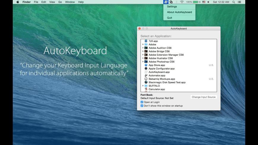 AutoKeyboard for Mac - review, screenshots
