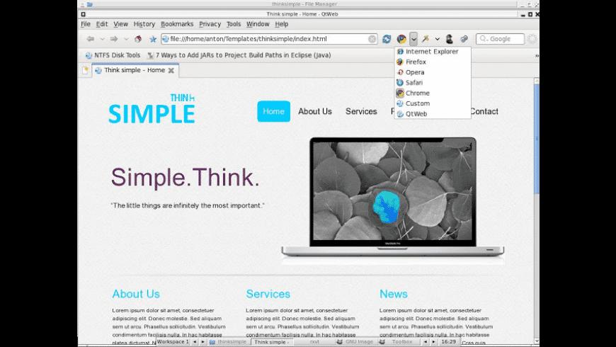 QtWeb Browser for Mac - review, screenshots