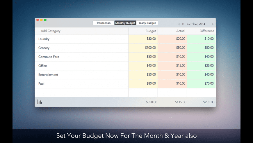 Personal Budget for Mac - review, screenshots