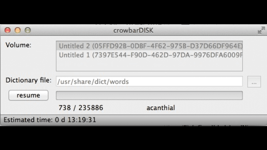 crowbarDISK for Mac - review, screenshots