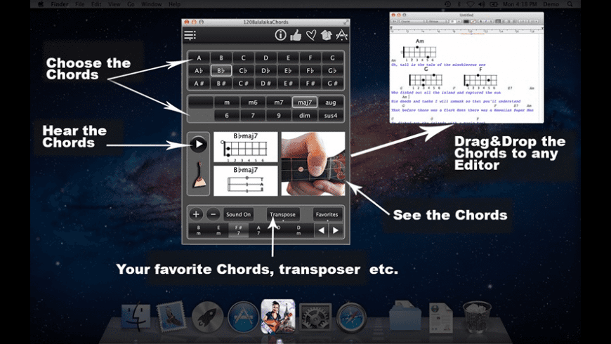 FreeBalalaikaChords for Mac - review, screenshots