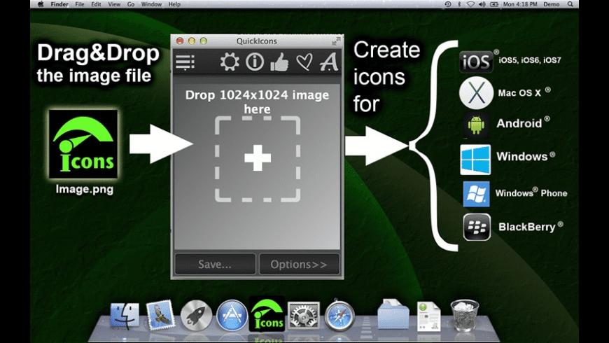 QuickIconsDemo for Mac - review, screenshots
