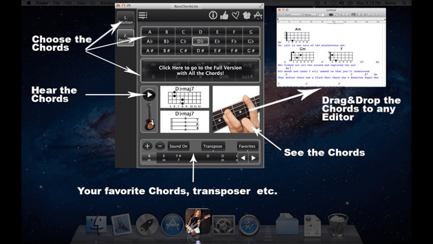 BassChordsLite for Mac - review, screenshots