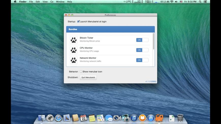 Menubarist for Mac - review, screenshots