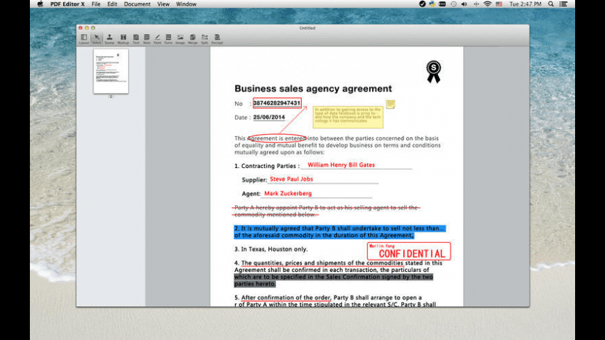 PDF Editor X for Mac - review, screenshots