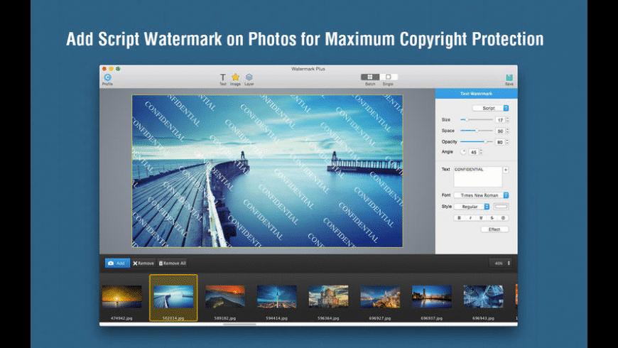 Watermark Plus for Mac - review, screenshots