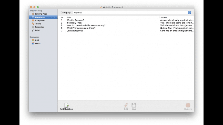 Answers for Mac - review, screenshots