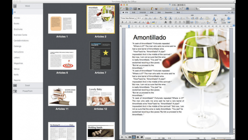 Templates Design for Office for Mac - review, screenshots